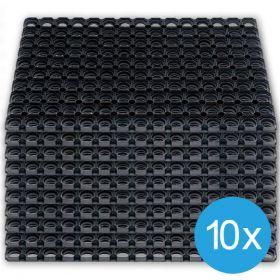 Paket - 10 Stück - Gummi-Ringmatten - 50 x 80 cm