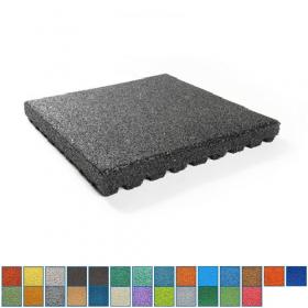 EPDM-Fallschutzmatte - 50x50cm - 100mm - UV-fest