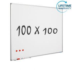 "Whiteboard ""Pro"" S – Emaille – magnetisch – 100x100cm"