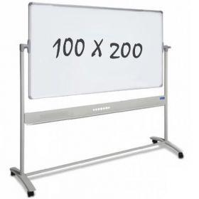 Whiteboard – Rollen – doppelseitig – magnetisch – 100x200cm