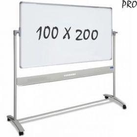 """Whiteboard """"Pro"""" Emaille – Rollen – doppelseitig & magnetisch – 100x200cm"""