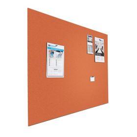 Designer-Pinnwand - Bulletin - 90x120cm - Orange - Schwebend ohne Rahmen