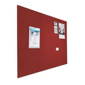 Designer-Pinnwand - Bulletin - 90x120cm - Rot - Schwebend ohne Rahmen