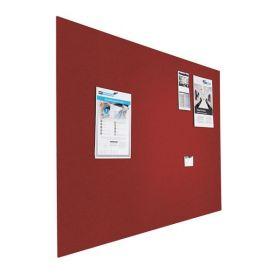 Kleine Design-Pinnwand - Bulletin - 60x90cm - Rot - Schwebend ohne Rahmen