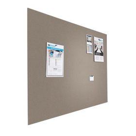 Designer-Pinnwand - Bulletin - 90x120cm - Grau - Schwebend ohne Rahmen