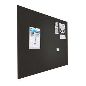 Riesige Design-Pinnwand - Bulletin - 120x200cm - Schwarz - Rahmenlos schwebend