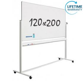 "Whiteboard ""Pro"" S - Mobil - Emaille - Doppelseitig - Magnetisch - 120x200 cm"