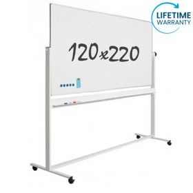 "Whiteboard ""Pro"" S - Mobil - Emaille - Doppelseitig - Magnetisch - 120x220 cm"