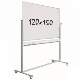 "Whiteboard ""Eco"" S - Mobil - 120 x 150 cm - Fahrbar, magnetisch & hohe Qualität"