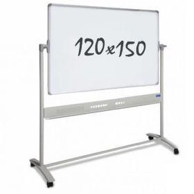 Whiteboard – Rollen – doppelseitig – magnetisch – 120x150cm
