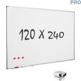 whiteboard projectie mat emaille 120 x 240 cm