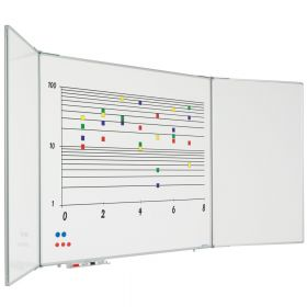 Aufklappbares Whiteboard - Emaille - 120x150 cm - 5 Seiten