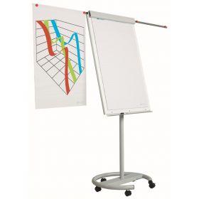 Flipchart 70 x 105 cm - Magnethaftend mit Rollenfuß und 2 Papierhaltern