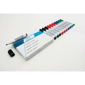 Whiteboard-Stift-Set - Schwarz - 10 Stück - Magnettafel-Marker mit viel Tinte