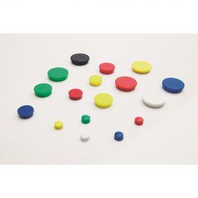 Whiteboard-Magnete - 30 mm - Gelb - Set - 10 Stück
