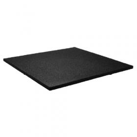 Sportboden - Fliese 100x100cm - 15mm - feine Körnung - Schwarz