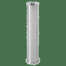 Edelstahl-Standaschenbecher - Silber-Gebürstet - Brandschutzdeckel - Rostfrei für Innen- & Außen