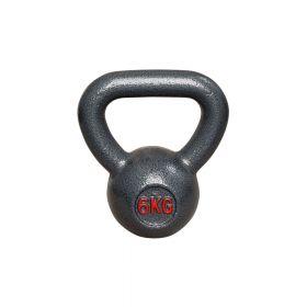 Kettlebell aus Gusseisen - Fitness Kugelhantel - 6kg