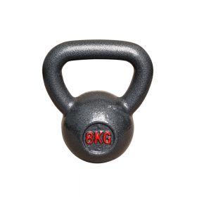 Kettlebell aus Gusseisen - Fitness Kugelhantel - 8kg