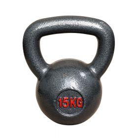 Kettlebell aus Gusseisen - Fitness Kugelhantel - 15kg