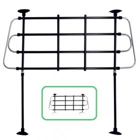 Verstellbares Hundegitter - Montage Rücksitzbank oder Wagenboden