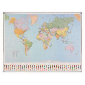 Welt-Karte Maßstab 1:30 000 000 - Magnetisch - Beschreibbar