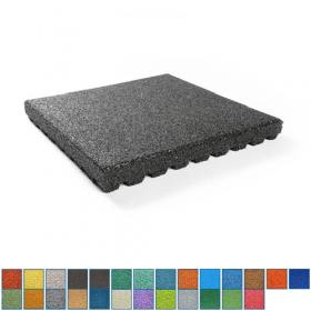EPDM-Fallschutzmatte - 50x50cm - 75mm - In 26 RAL Farben erhältlich