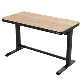 Elektrischer Sitz-Steh-Schreibtisch - 120 x 60 cm - Wasch-Eiche - Höhenverstellbar für Homeoffice-Arbeitsplatz