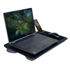 Ergonomisches Laptopkissen - Carbon mit Mauspad & Telefonhalter