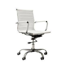 """Design-Bürostuhl """"Valencia"""" – höhenverstellbare Wippmechanik  – Weiß"""