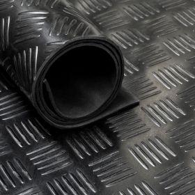 Gummiläufer / Gummimatte von der Rolle,  Tränenblech, 150cm, 3 mm dick