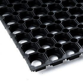Gummi-Ringmatte 50 x 100 cm - Ideal für Schnee im Außenbereich