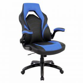 Gaming-Stuhl Prime - Blau - Ergonomisch, auf Rollen & klappbare Armlehnen