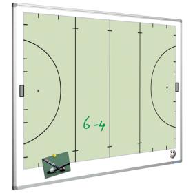Taktiktafel mit Hockeyfeld  - magnetisch - 90x120 cm