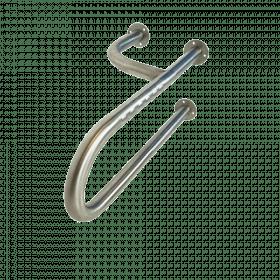 Edelstahl-Toilettengriff - Rechts - Schwerlast bis 200kg - 60 cm - Langer Senioren-Stützgriff