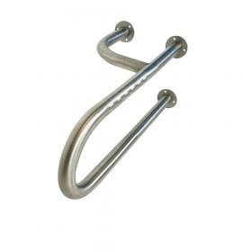 Edelstahl-Toilettengriff - Links - Schwerlast bis 200kg - 60 cm - Langer Senioren-Stützgriff