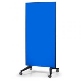 Glasboard - Mobil auf Rollen - 90x175cm - Blau - Fahrbar, magnetisch und kratzfest