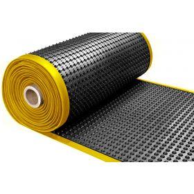 Ergonomische Werkstattmatte  - von der Rolle - gelber Rand - 15 x 910 mm