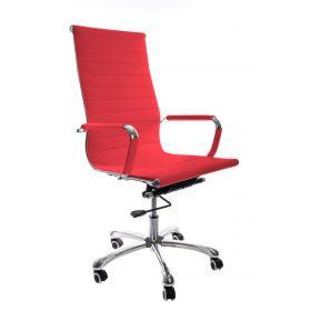luxe bureaustoel rood