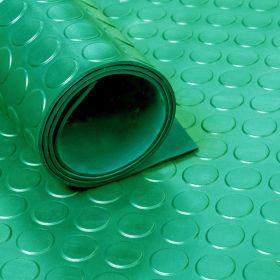 Gummiläufer / Gummimatte  - Noppen 3mm - Grün - Breite 100 cm - Geruchlos - von der Rolle