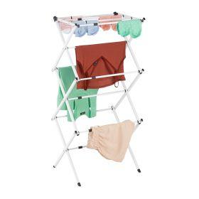 Wäscheständer - verstellbar und faltbar - Weiss