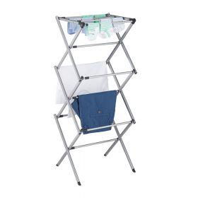 Wäscheständer - verstellbar und faltbar - Silber