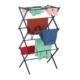 Wäscheständer - verstellbar und faltbar - Schwarz