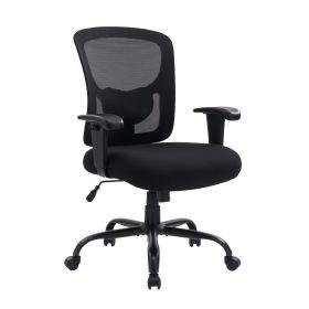 """Ergonomischer Bürostuhl """"Robust XXL"""" - Bis 150kg - Verstellbar & extra-stark für schwere Menschen"""