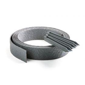 ECOLAT Randabschluss 25m Rolle - Grau - 2500x19x0,7cm - 100% recyceltes Plastik