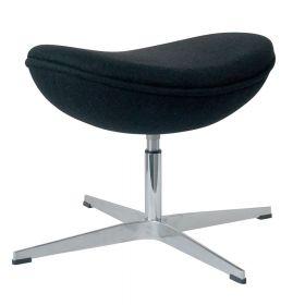 Egg-Chair-Hocker - Schwarz - Passende Fußbank für den Ei-Stuhl