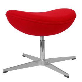 Egg-Chair-Hocker - Rot - Passende Fußbank für den Ei-Stuhl