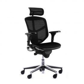 COMFORT Bürostuhl Enjoy Classic - mit Kopfstütze - Schwarz