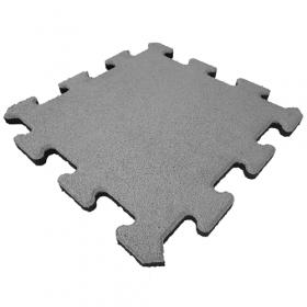 Fallschutzmatte - Puzzle-System - Mittelstück - 50x50cm - 25mm - Grau