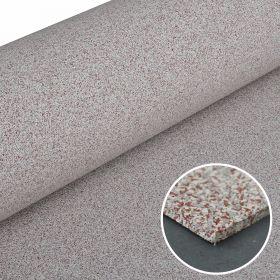 Sportboden Everroll - 4 mm - 125 cm - Stone-Design-Weiß/Rot/Grau - Meterware für Fitness & Gymnastik